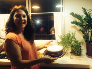 After a full day of work, Laura turns out exotic cakes and delicious food--every day!