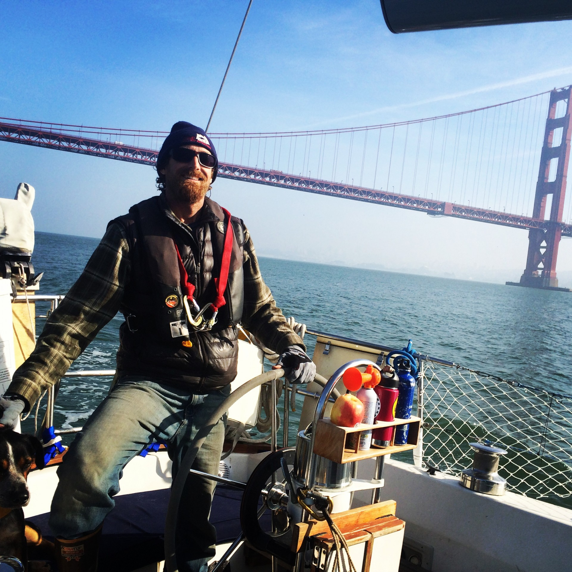Josh, with help from Bob, sailed Far Niente from Berkeley to San Diego in the less-than-ideal Pacific wintertime conditions.