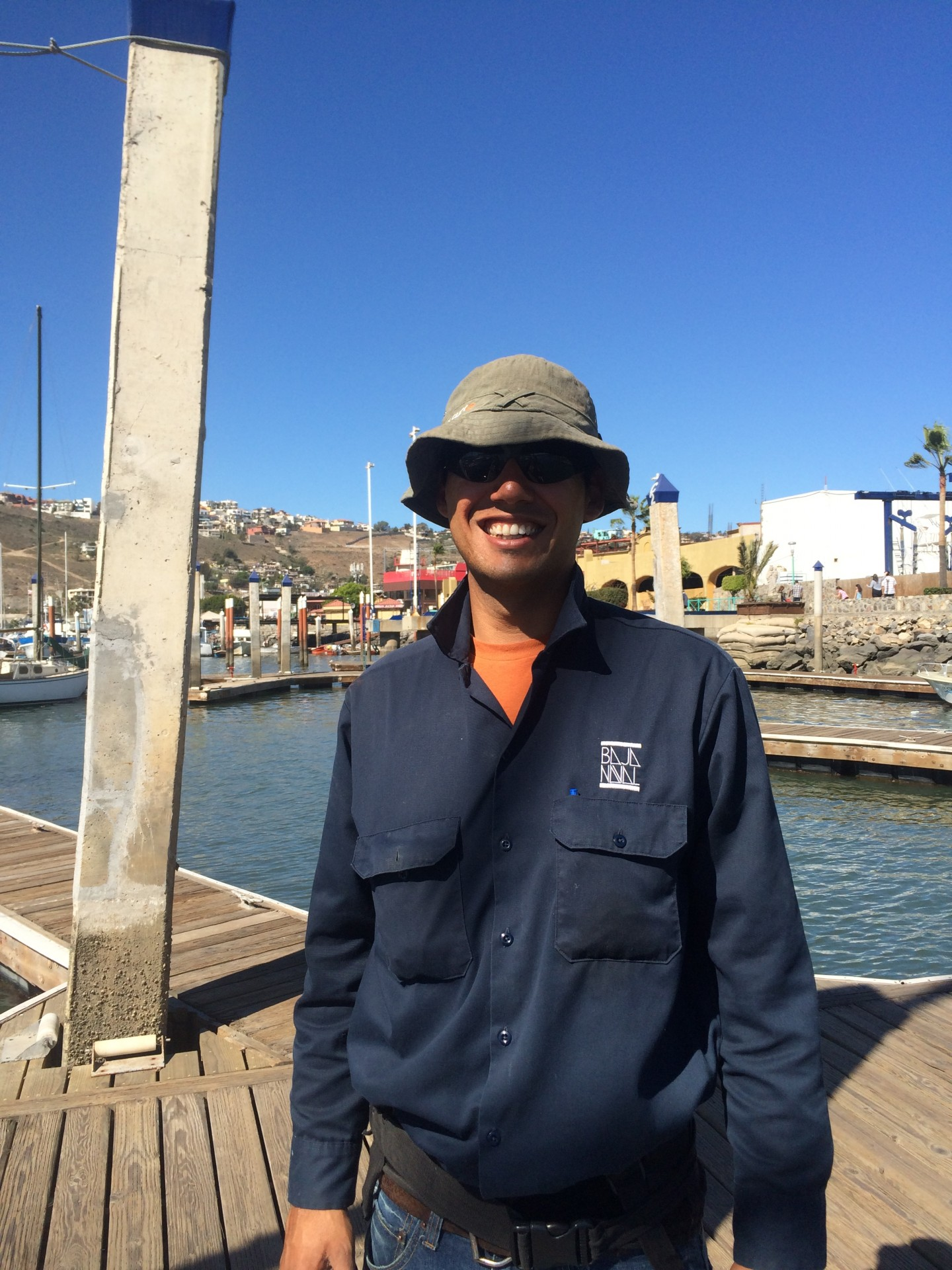 Carlos, the gentle soul who met us at the dock and walked us through the paperwork. Someday he hopes to have his own sailboat.