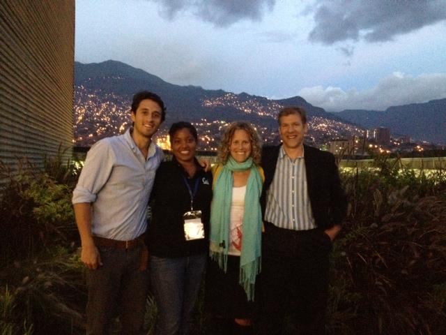 The Fulbright NEXUS meeting in Medellin, Colombia, with Diego Barido, Rebekah Shirley, and Dan Kammen.