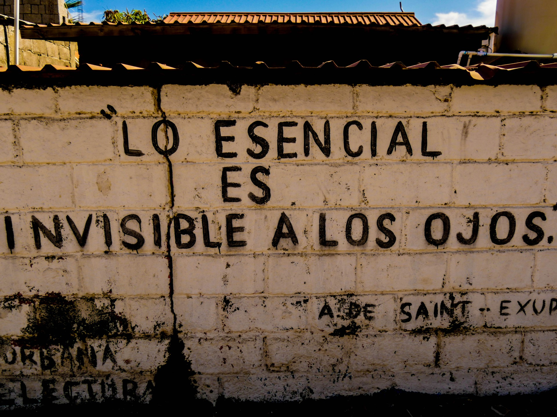 Even the quotes on the wall whisper the truth of Santa Rosalía.