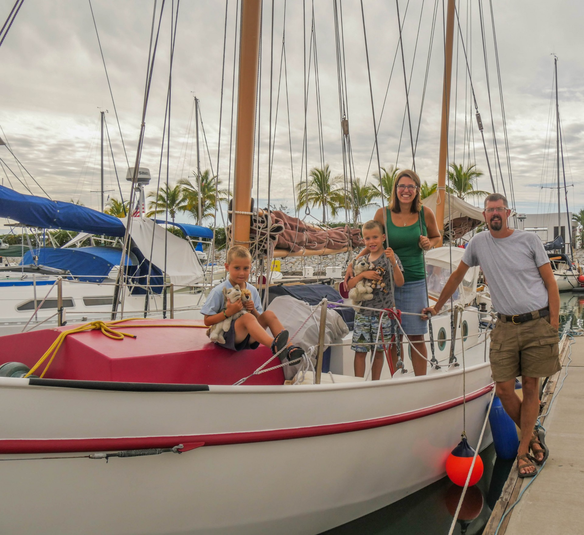 Tor, Jess, Lars and Odin Bjorklund sailed their homebuilt 32' foot steel ketch from Seattle and were our neighbors in La Cruz--best neighbors ever!! They set off for Hawaii together around the time we left.