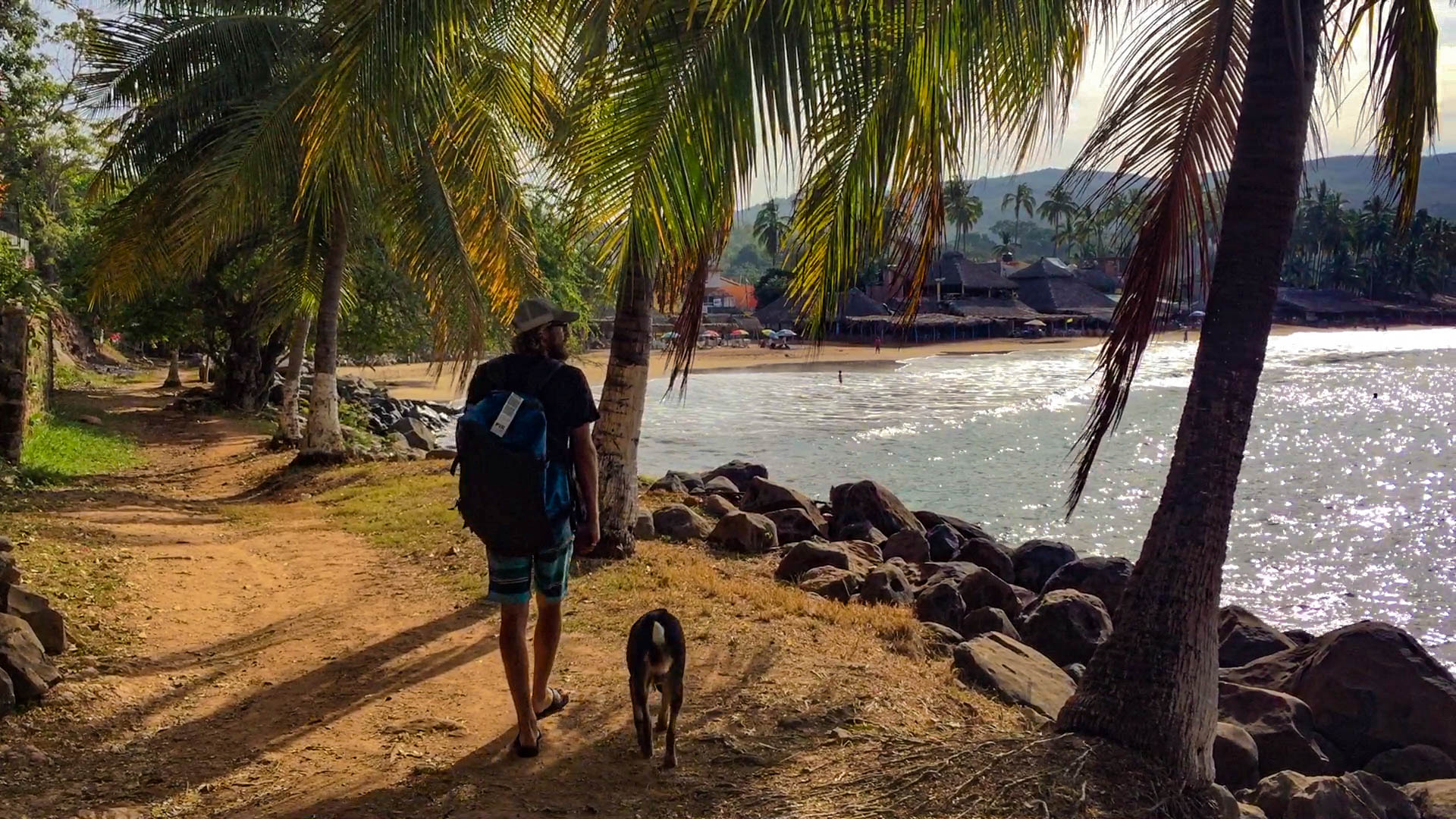 Moments to breath on the shoreline path at Chacala.