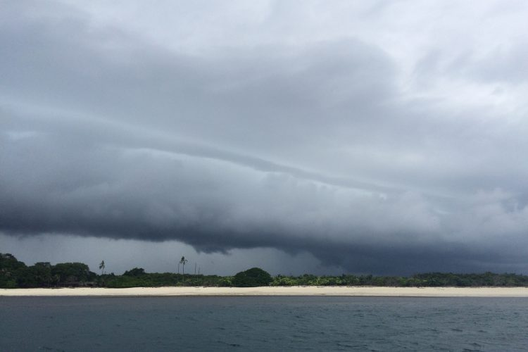 Just another daily storm at Isla Iguana, a couple days out from Panama City.