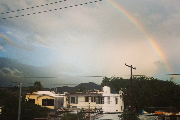 As Dolly says, If you want the rainbow, you gotta put up with the rain. The view from our casa in La Paz.